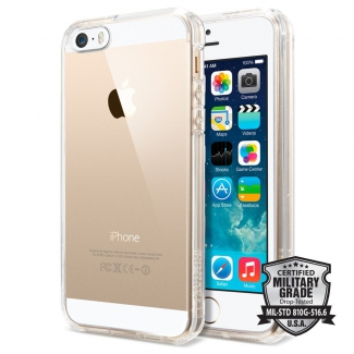 Pouzdro Spigen Ultra Hybrid iPhone 5/5S/SE průsvitné