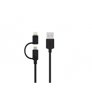 KENU Tripline Lightning Kabel s Micro USB - 1m
