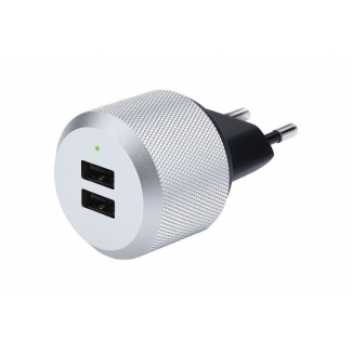 Just Mobile AluPlug duální USB nabíječka do zásuvky