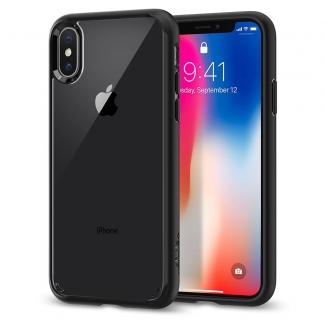 Pouzdro Spigen Ultra Hybrid iPhone X černo-průsvitné