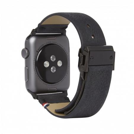 Decoded kožený náramek pro Apple Watch 42mm, 44mm - černý