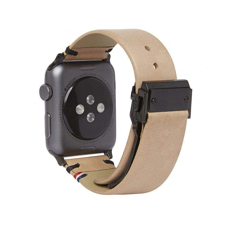 Decoded kožený náramek pro Apple Watch 42mm - sahara