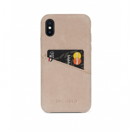 Pouzdro Decoded Leather Case pro iPhone X / XS - Natural