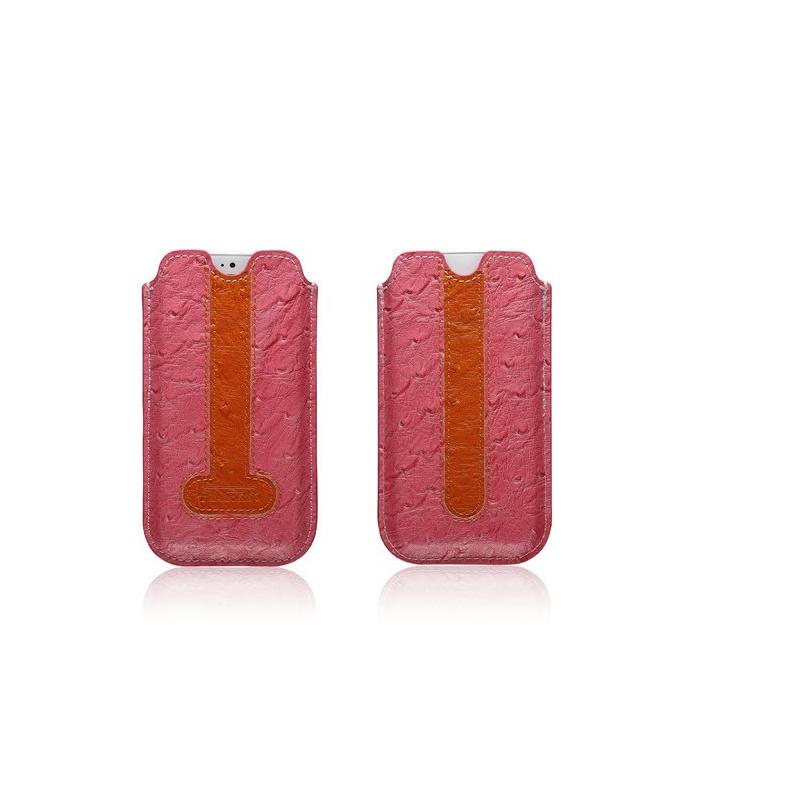ICARER kožené pouzdro obal pro iPhone 5, 5S - pštros RIP 506