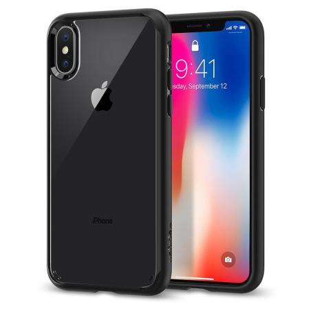 Pouzdro Spigen Ultra Hybrid iPhone XS Max černo-průsvitné