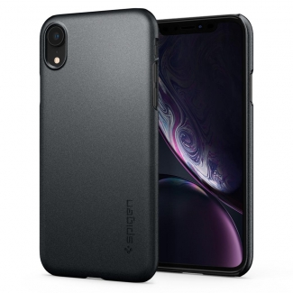Pouzdro Spigen Thin Fit iPhone XR Graphite Grey - šedé
