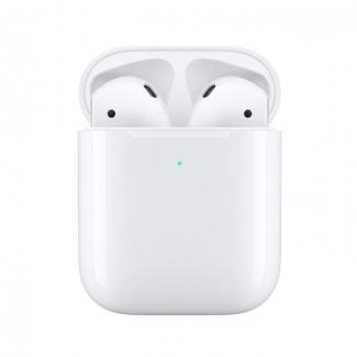 Apple AirPods bluetooth sluchátka s bezdrátovým nabíjecím pouzdrem (2019 - 2. generace)