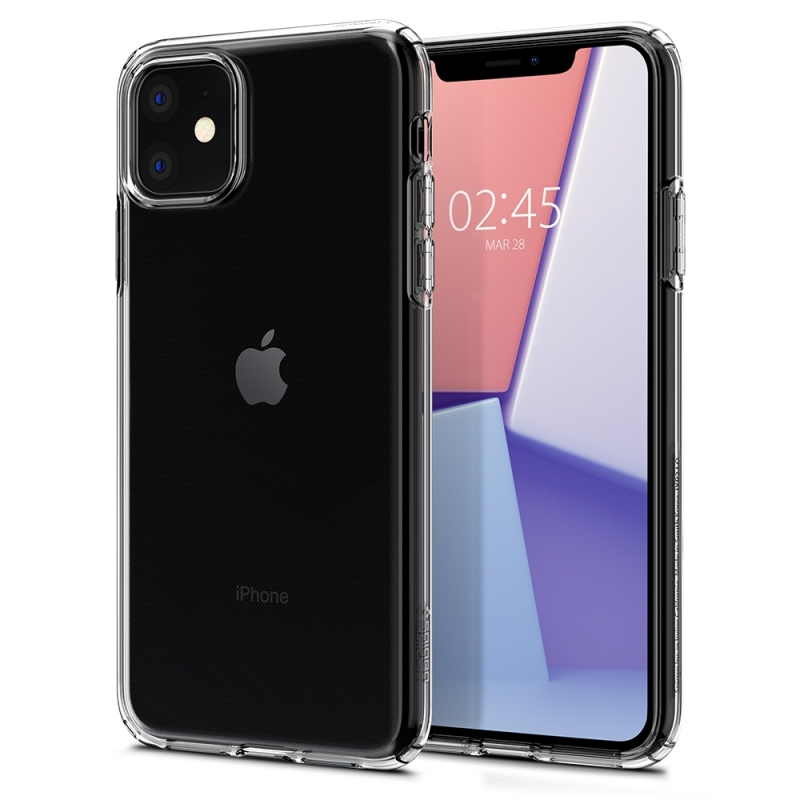 Pouzdro SPIGEN Crystal Flex iPhone 11 - průsvitné