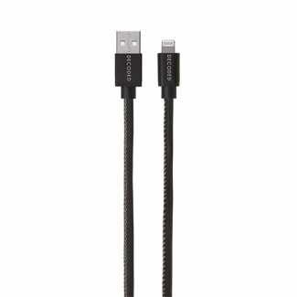 Decoded certifikovaný Lightning kabel - Black 1,2m