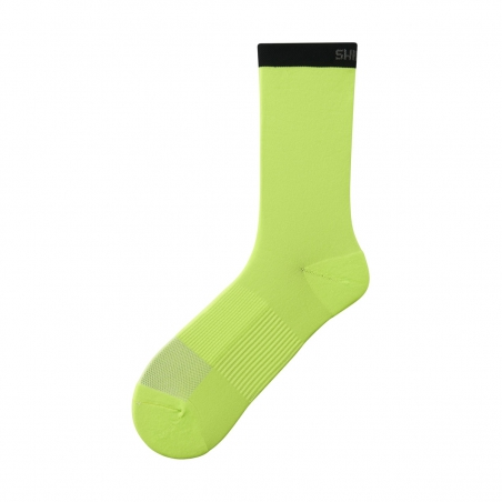 Ponožky Shimano Original Tall, žluté, Vel: M-L (41-44)