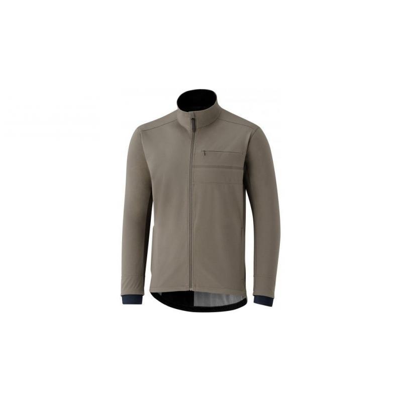 Bunda Shimano Transit Softshell Jacket (Morel Brown), hnědá