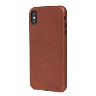 Pouzdro Decoded Leather Case pro iPhone XS Max - hnědé