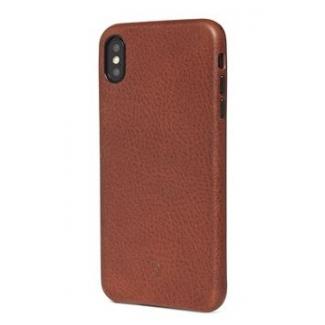 Pouzdro Decoded Leather Case pro iPhone XS Max - hnědé