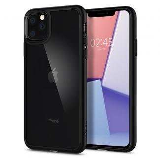 Pouzdro Spigen Ultra Hybrid iPhone 11 Pro Max černo-průsvitné
