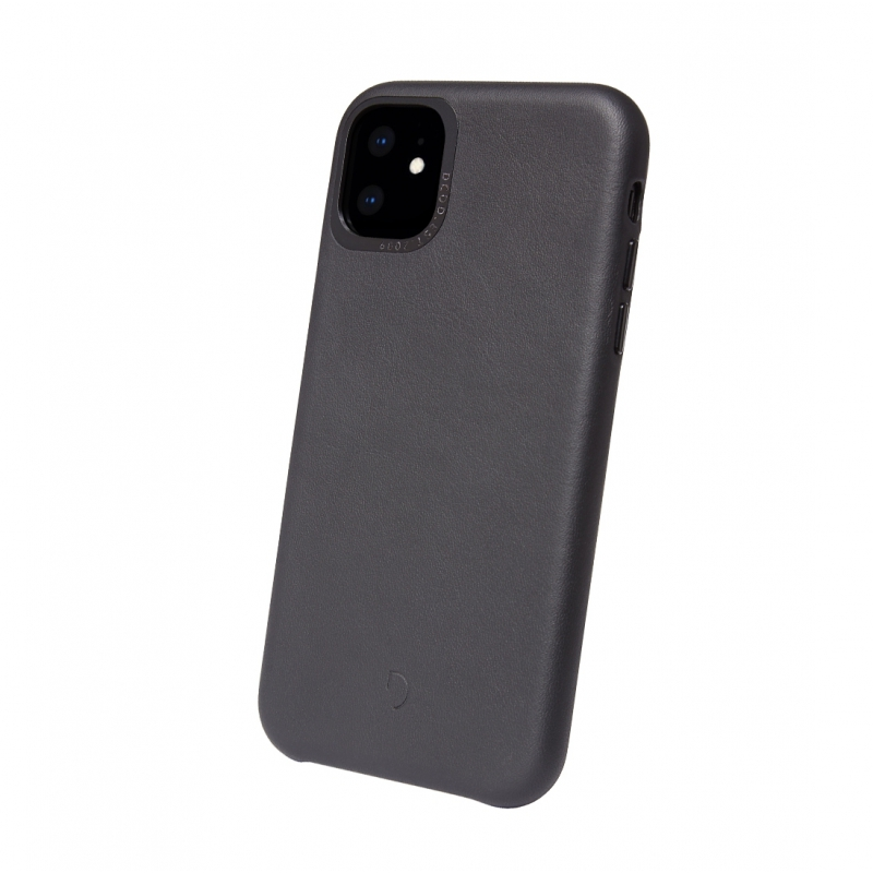 Pouzdro Decoded Leather BackCover pro iPhone 11- černé