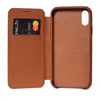 Pouzdro Decoded Leather Slim Wallet pro iPhone XR - hnědé