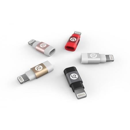 Adam Elements PEAK A1 adaptér z Micro USB na Lightning - černý