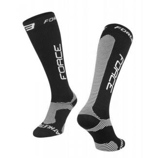 Ponožky FORCE ATHLETIC PRO KOMPRES, černé, Vel: L-XL (42-47)