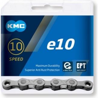 Řetěz na elektrokola KMC e10 EPT šedá, 136 čl.