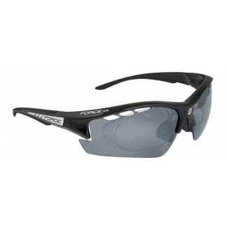 Brýle FORCE Ride Pro černé diop.klip, černé laser skla