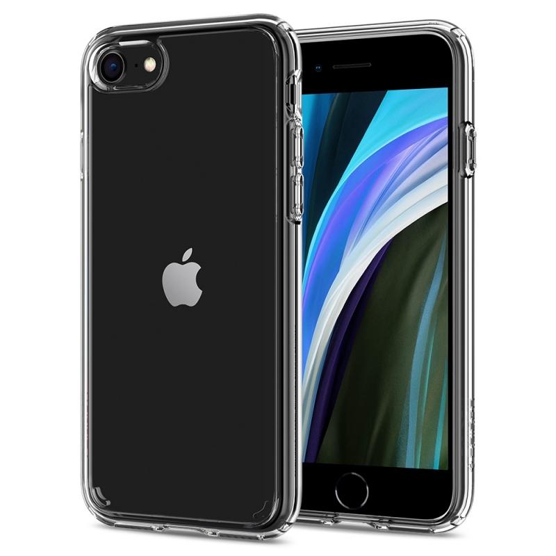 Pouzdro Spigen Ultra Hybrid 2 pro iPhone SE (2020) / 8 / 7  - transparentní