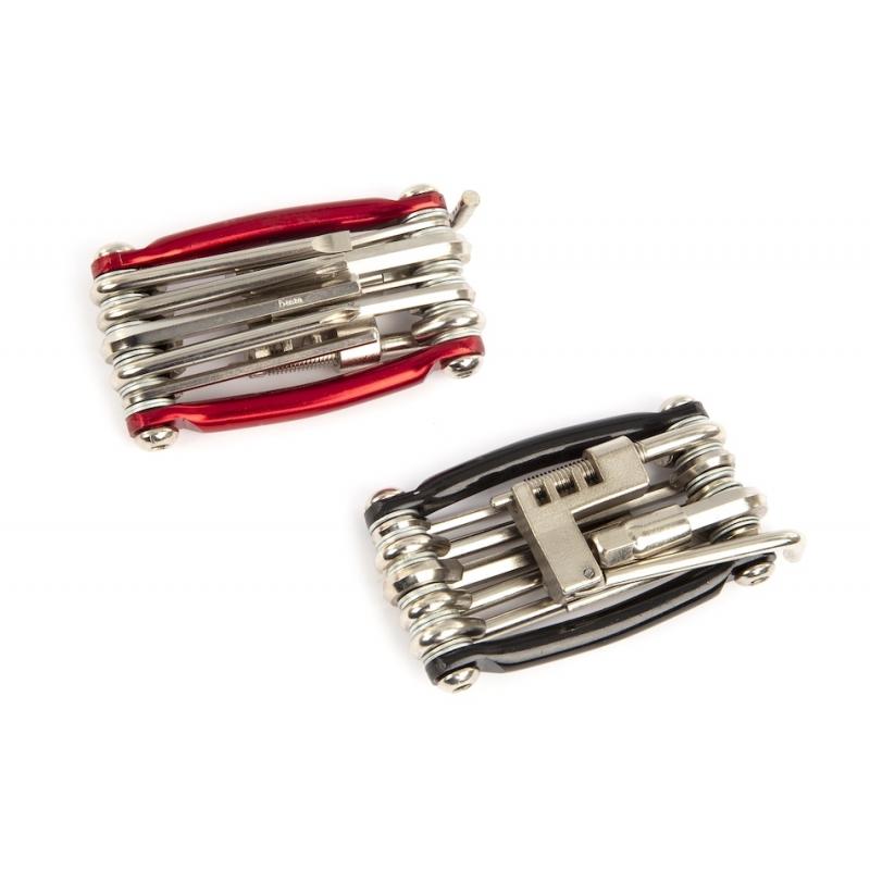 Jobsworth multiklíč - 11 nástrojů, červený