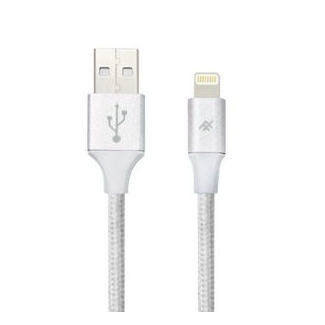 iFrogz UniqueSync Premium odolný lightning kabel pro iPhone - 3m - Silver
