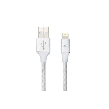 iFrogz UniqueSync Premium odolný lightning kabel pro iPhone - 1,5m - Silver
