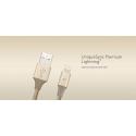 iFrogz UniqueSync Premium odolný lightning kabel pro iPhone - 1,5 m - gold