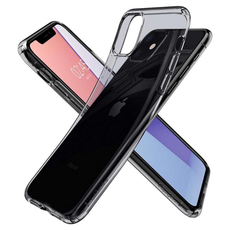 Pouzdro SPIGEN Liquid Crystal iPhone 11- průsvitné černé
