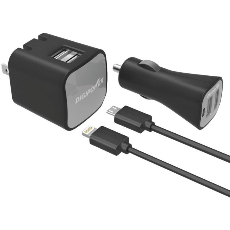 Sada - DIGIPOWER Dual USB Nabíječka a Inteligentní USB autonabíječka