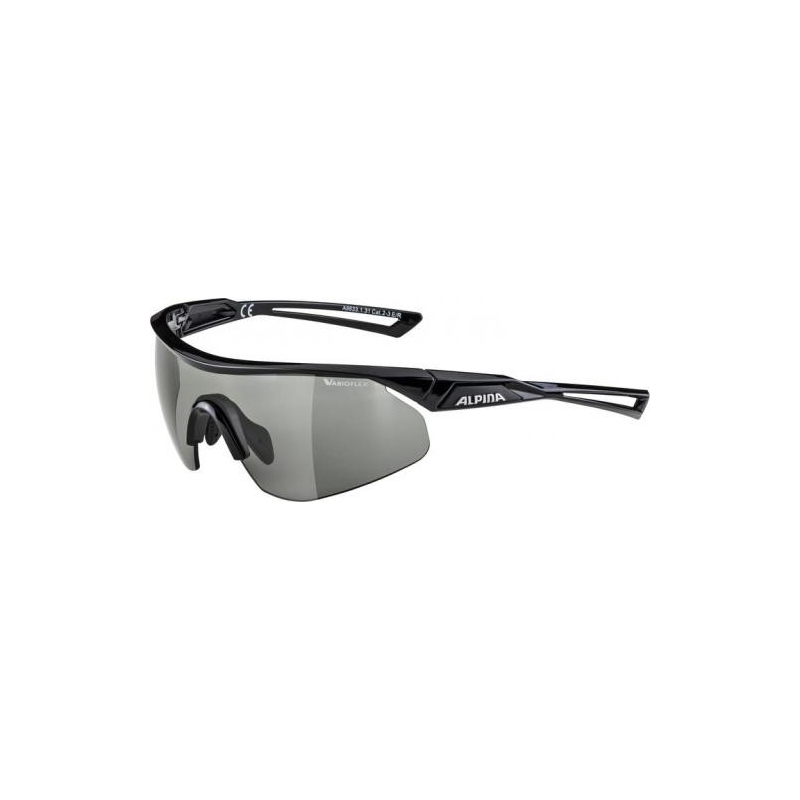 Alpina brýle NYLOS SHIELD VL, černé, fotochromatické skla