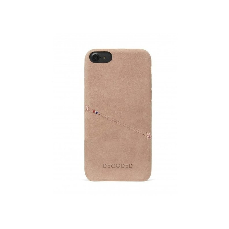 Kryt Decoded Leather Case pro iPhone 6, 6S, 7, 8, SE (2020) - Rose