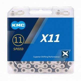 Řetěz KMC X 11 stříbrno-černý, 118 čl.