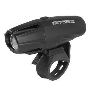Přední světlo FORCE Shark 700LM USB, černé
