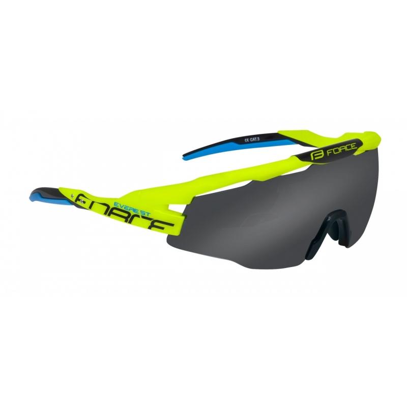 Brýle FORCE EVEREST, fluo, černé skla