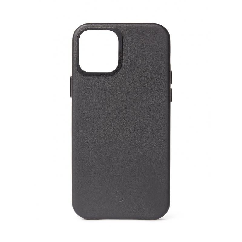 Pouzdro Decoded Leather BackCover pro iPhone 12/12 Pro - černé