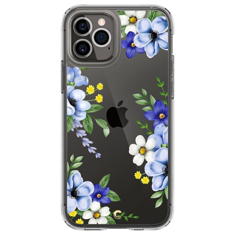 Pouzdro SPIGEN Cecile, bloom iPhone 12/12 Pro - průsvitné