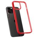 Pouzdro Spigen Ultra Hybrid iPhone 12/12 Pro červeno-průsvitné