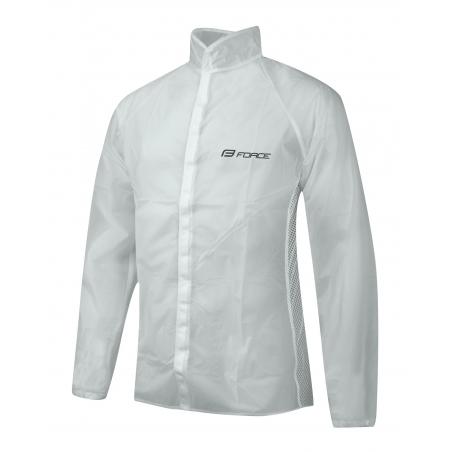 Pláštěnka FORCE, PVC - transparent, suchý zip