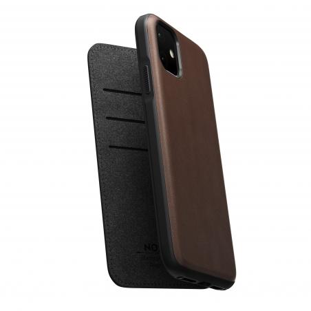 Pouzdro Nomad Folio Leather case, brown - iPhone 11 Pro