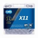 Řetěz KMC X 11 EPT stříbrná, 118 čl.