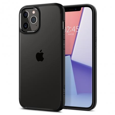 Pouzdro Spigen Ultra Hybrid iPhone 12 / 12 Pro černo - průsvitné