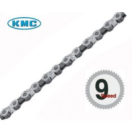 Řetěz KMC X 9 stříbrno-šedá, 114 čl.