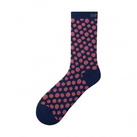 Ponožky Shimano Original Tall, modro-růžové