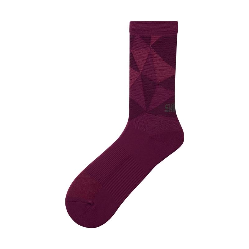 Ponožky Shimano Original Tall, bordó