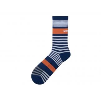 Ponožky Shimano Original Tall, modro-bílé