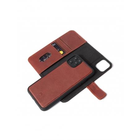 Pouzdro Decoded Leather Detachable Wallet pro iPhone 11 Pro - hnedé