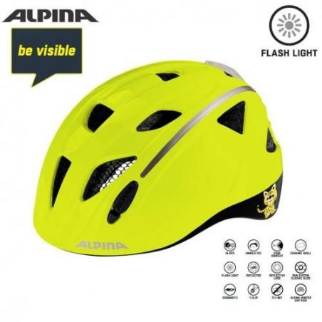 Dětská přilba ALPINA Ximo Flash Be Visible reflexní, vel. 47-51cm