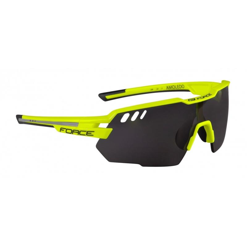 FORCE brýle AMOLED, fluo-šedá, černé skla
